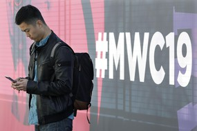 Mobile World Congress in Barcelona (ANSA)