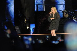 Italian singer Emma Marrone performs on stage during the concert-event ?Pino ? in tribute to late Italian singer-songwriter Pino Daniele at the San Paolo stadium in Naples, Italy, 07 June 2018. (ANSA)