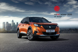 Peugeot 208 e 2008, design premiato ai Red Dot Award 2020 (ANSA)
